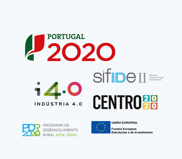 Apoios e Incentivos : PORTUGAL 2020, SIFIDE, FEDER, CENTRO2020